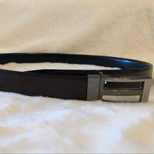Geoffrey Beene reversible leather belt